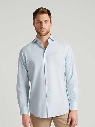 Hackett Mens Poplin Cotton Blend Shirt | Large | White