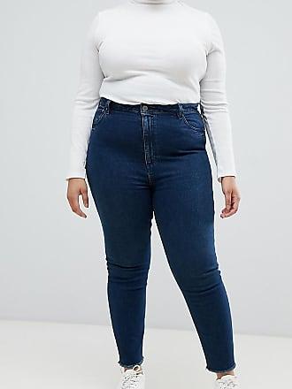 b184e1c87338 Asos Curve ASOS DESIGN Curve - Farleigh - Schmale Mom-Jeans mit hohem Bund  in