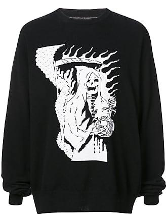 424 Suéter com estampa - Preto