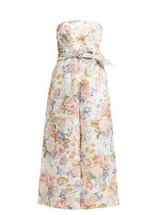 7e2372d3e35 Zimmermann Bowie Floral Print Linen Jumpsuit - Womens - Cream Print