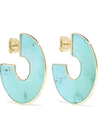 Ippolita Polished Rock Candy 18-karat Gold Turquoise Hoop Earrings