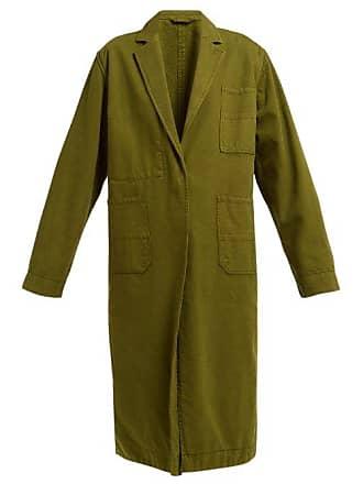 Haider Ackermann Longline Cotton Oxford Coat - Womens - Khaki