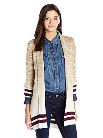 Rvca Juniors All in Cardigan Sweater, Camel, Small