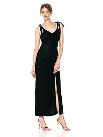 J.O.A. JOA Womens Velvet Tie Shoulder Maxi Dress, Forest, Small