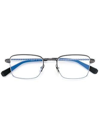 Brioni Óculos retangular - Cinza