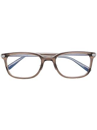Brioni Armação de óculos quadrada - Marrom