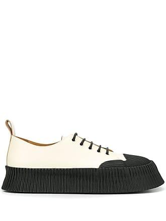 Jil Sander platform sole sneakers - White