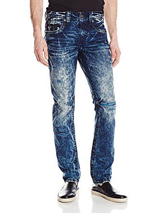 Rock Revival Mens Alternative Straight Fit Jean, Medium Blue, 29