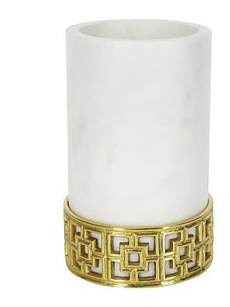 Jonathan Adler Nixon Wine Cooler - White Marble/Brass