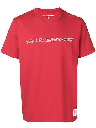 White Mountaineering Camiseta com estampa de logo - Vermelho