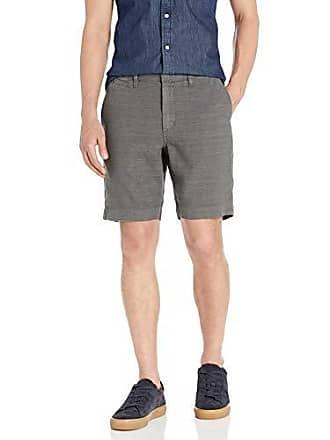 John Varvatos Mens Johnny Flat Front Shorts, Flint, 32