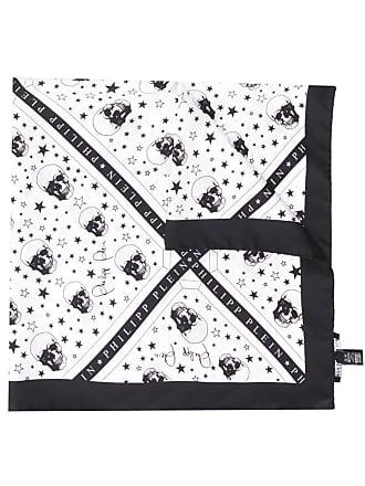 Philipp Plein square scarf - Branco