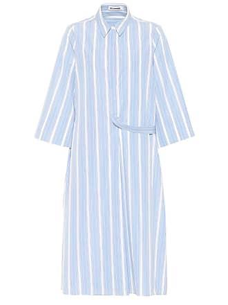 Jil Sander Cotton striped shirt dress