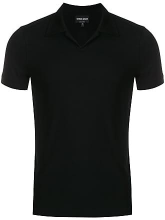 Giorgio Armani Camisa polo com mangas curtas - Preto 0f47e4c1d1c57