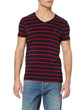 4311657cf5dd3 Tommy Hilfiger Stretch Slim FIT Vneck Tee T- T-Shirt, Bleu (Sky