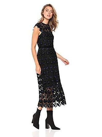 d2a601e5a2 Shoshanna Womens Massena Midi Cap Sleeve Dress