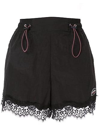 Ground-Zero lace hem shorts - Preto