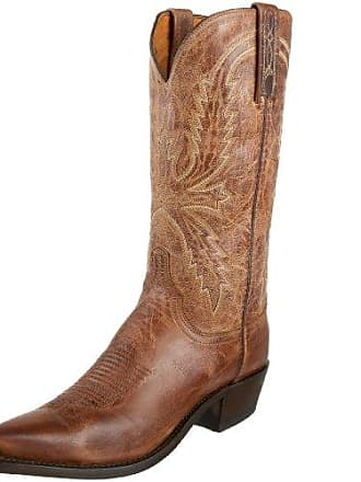 Lucchese 1883 by Lucchese Mens N1547.54 Western Boots,Tan Burnish,8 D(M)US