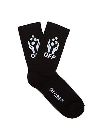 Off-white Off-white - Hands Off Knitted Cotton Blend Socks - Mens - Black