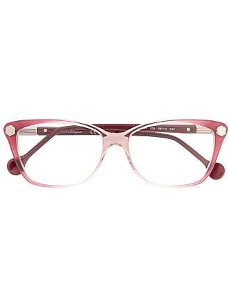 Salvatore Ferragamo Armação de óculos degradê - Rosa