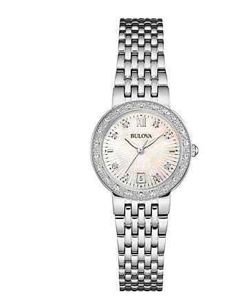 Zales Ladies Bulova Diamond Accent Watch with Mother-of-Pearl Dial (Model: 96R203)