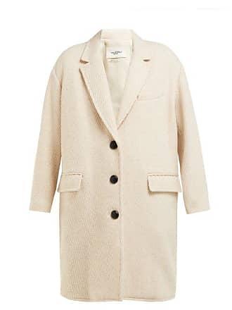 Isabel Marant Gimi Oversized Wool Blend Tweed Coat - Womens - Ivory