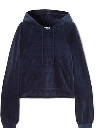 BASERANGE Ubera Organic Cotton-velour Hoodie - Midnight blue
