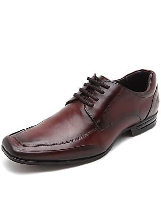 Rafarillo Sapato Social Couro Rafarillo Liso Vinho