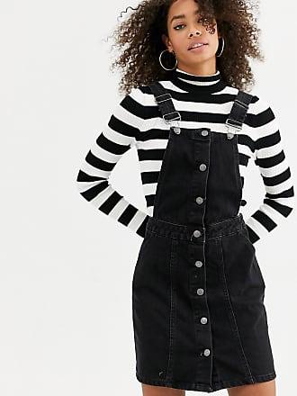 Urban Bliss Tamala - Vestito scamiciato di jeans-Nero