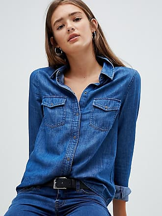 Noisy May Camicia di jeans-Blu