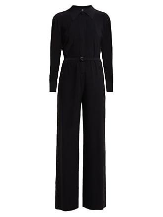 Norma Kamali Straight Leg Jersey Jumpsuit - Womens - Black