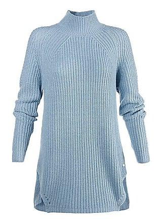 28952fa73072 Madeleine Kaschmir Kaschmir-Pullover mit Stehkragen Damen kristallblau    blau