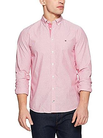 b9a8d7a9 Tommy Hilfiger Mens Engineered Stripe Dobby Shirt, Haute Red, X-Large