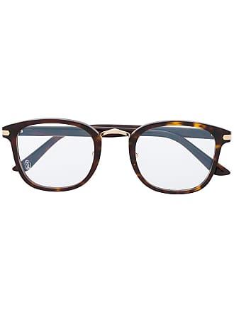 Cartier Armação de óculos quadrada - Marrom