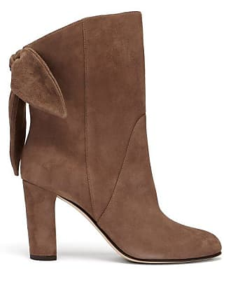 Jimmy Choo London Marlene 85 Suede Ankle Boots - Womens - Light Brown