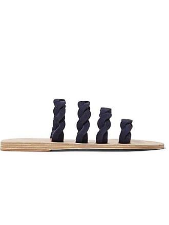 c9d344df813f1e Ancient Greek Sandals Sandales En Daim Tressé Kynthia - Bleu marine