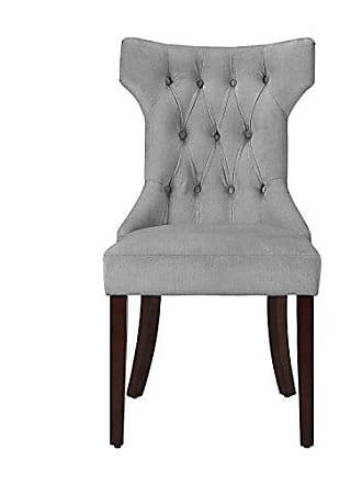 Dorel Home Products Dorel Living DA6090-PL Clairborne Upholstered dining chair, set of 2, Gray