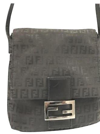 84be1c643a5c Fendi Ff Monogram 228034 Black Coated Canvas Cross Body Bag