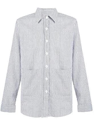 Aspesi Camisa listrada com bolsos - Branco
