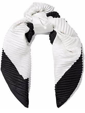 Valentino Valentino Woman Two-tone Plissé Silk-faille Scarf White Size