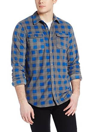 O'Neill Mens Glacier Flannel Shirt, Blue, Small