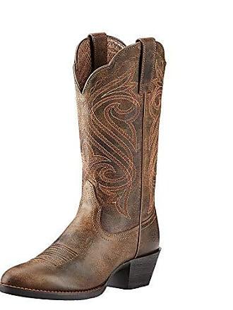 Ariat Ariat Womens Round Up R Toe Western Cowboy Boot, Dark Toffee, 5.5 B US
