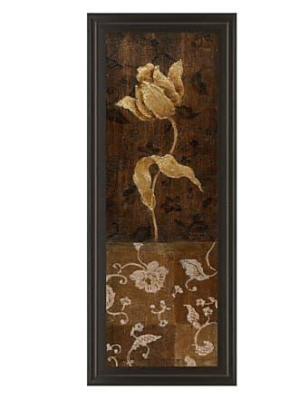 Classy Art Golden Tulip I Framed Wall Art - 18W x 42H in. - 1107