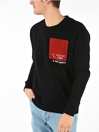 Just Cavalli Cotton ALL MONTERS ALL HUMAN Crewneck Sweatshirt size Xl
