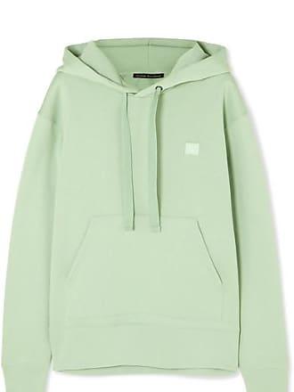 b14ec8ca Acne Studios Ferris Face Appliquéd Cotton-jersey Hoodie - Light green