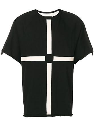 Ziggy Chen appliqué detail T-shirt - Black