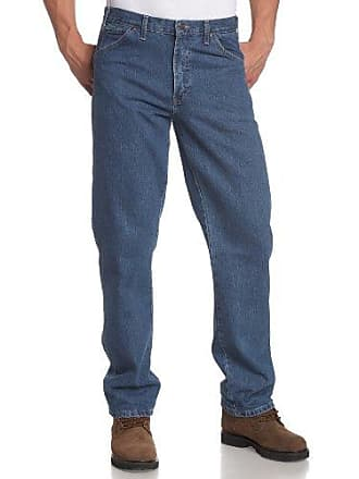 Dickies Mens Regular Fit 5-Pocket Stone Washed Jean, Stone Washed Indigo Blue, 34x34