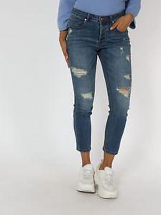 Springfield Jeans con Diseño Desgarrado<br>Slim Boyfriend Fit<br>Azul