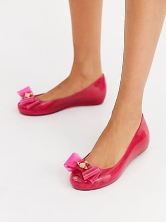 Vivienne Westwood bow trim flat shoes in pink