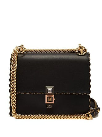 8d017358a01 Fendi Kan I Small Leather Cross Body Bag - Womens - Black
